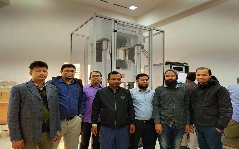 ATCL Installs a Swiss Made Walter+bai Branded Universal Testing Machine at JUST, Jashore